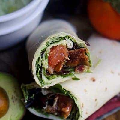 BLT Wraps with Homemade Guacamole