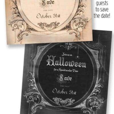 Halloween Party – Save the Date Invitation