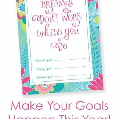 Free Printable Dreams & Goals Print
