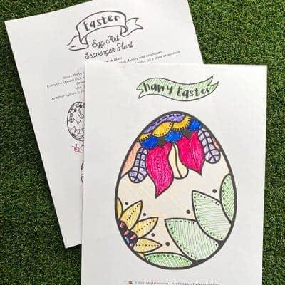 Easter Egg Art Scavenger Hunt – Free Printable Game