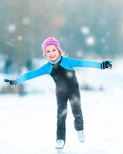 Ice Skating Girl - Advent Activities For Families