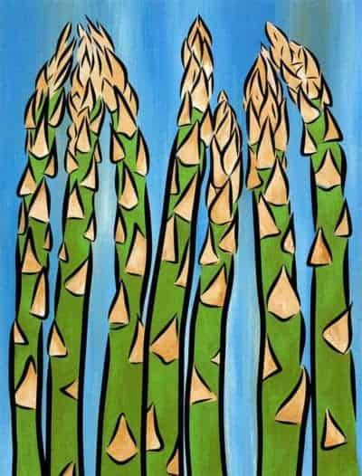 asparagus print