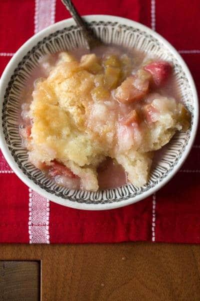 Saucy Rhubarb Pudding Cake