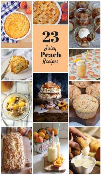 Peach Recipe Photo Collage