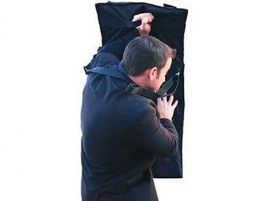 MTS - Multi Threat Shield bag - shield deployed