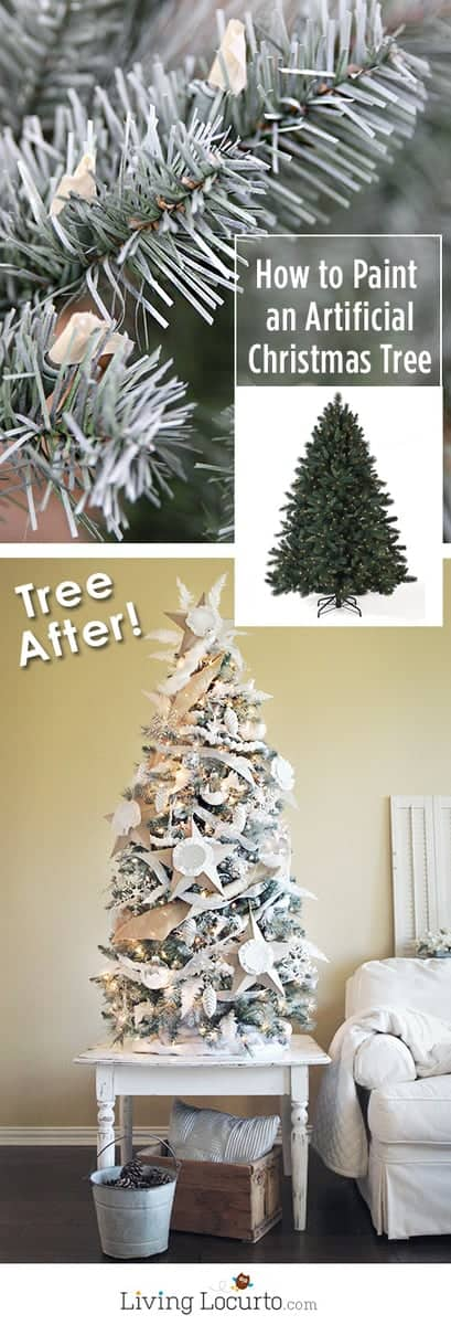 How to paint an artificial Christmas tree a different color.