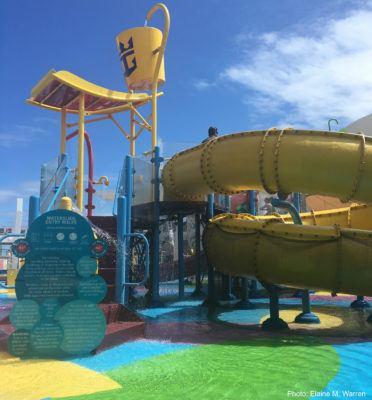 New royal caribbean ships have big slides and better splash pads