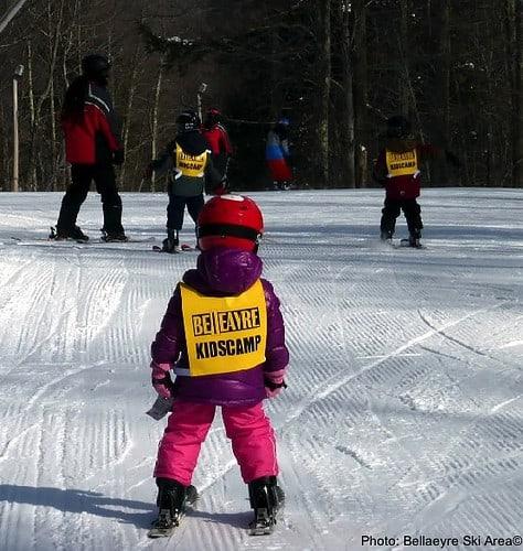 Ski class at belleayre ski resort in the hudson valley.