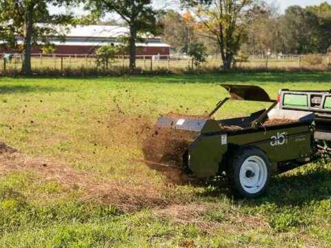 ATV and UTV 50 ground drive small manure spreader