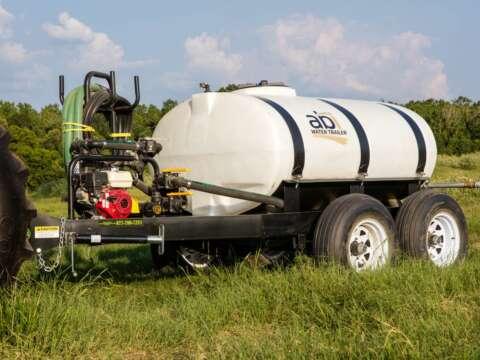 500 Gallon Water Trailer Pump Close Up