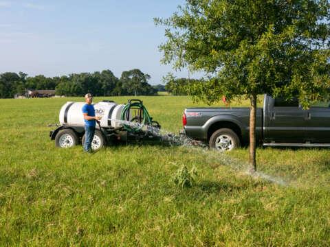 Truck 500 Gallon Water Trailer Watering Landscape