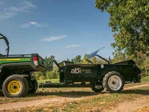 John Deere Gator small ground drive manure spreader