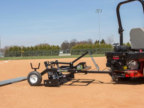ABI Infield Groomer For Zero-Turn Lawn Mowers With Drag Mat