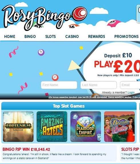 Rosy Bingo Casino Free Spins Bonus