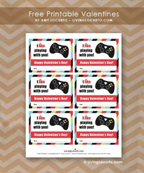 Free Printable Video Game Valentines