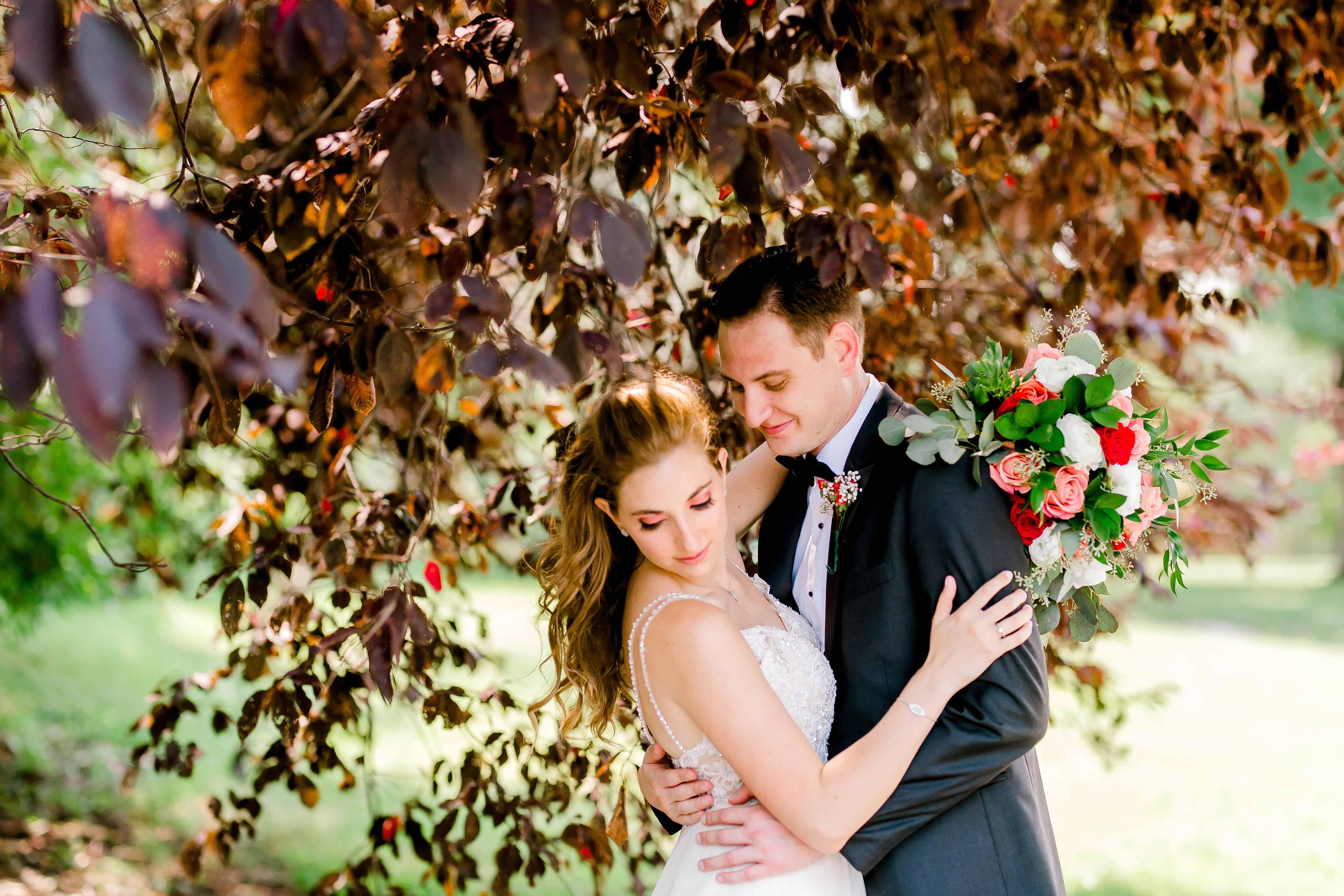 Ravenswood events center wedding bride and groom