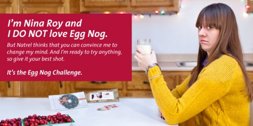 Nina Roy Doesn't Like Eggnog