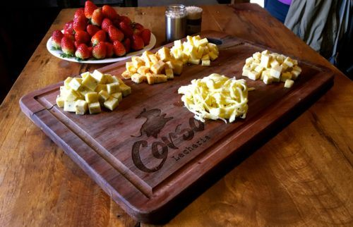 Cheese and strawberries (queso y fresas) produced at corso daily farm (lecheria) in costa rica