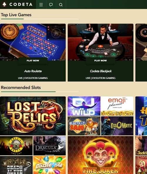 Codeta Casino Review