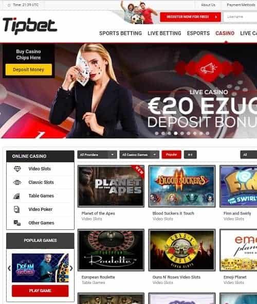 Tipbet Casino free bonus