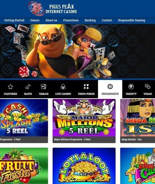Piggs Peak Casino free play bonus