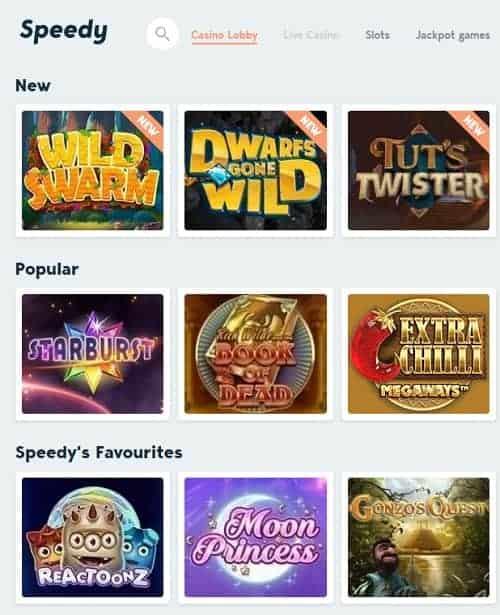 Speedy Casino Review - Sweden