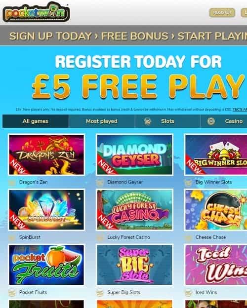 PocketWin Mobile Casino review