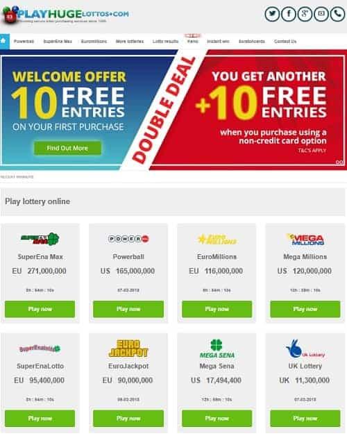 Play Huge Lottos Casino