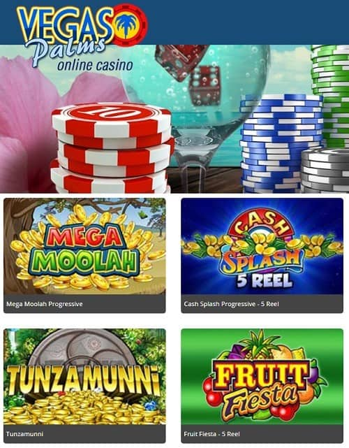Vegas Palms Casino free spins bonus