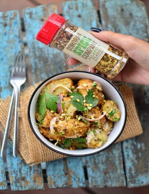 Spicy Potato Salad | Sonoran Spice Jalapeno Flakes