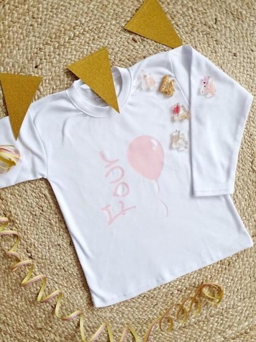 shirt verjaardag ballon vier