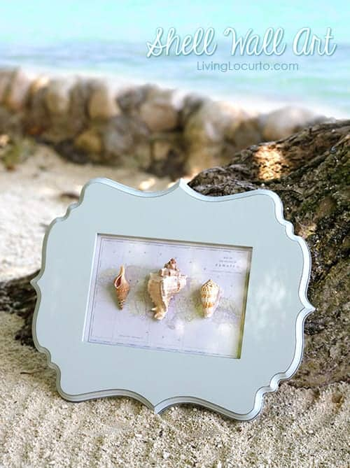 How to make easy wall art with shells from your beach vacation.