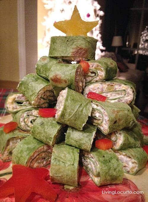 Christmas Tree Appetizer Wraps Recipe. LivingLocurto.com