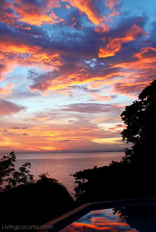 Sunset at Bluefields Bay Villas in Jamaica - LivingLocurto.com
