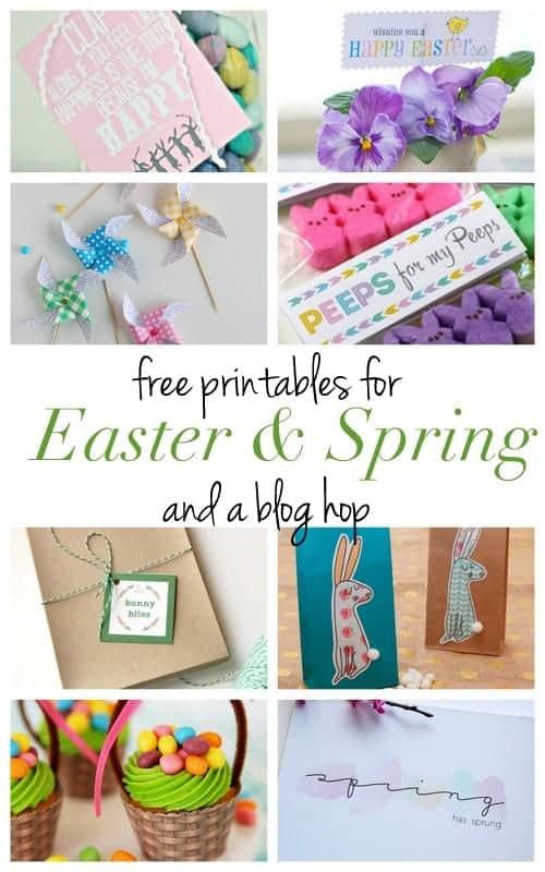 8 FREE Printables for Easter and Spring! Blog Hop at LivingLocurto.com