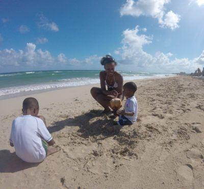 A local beach in havana