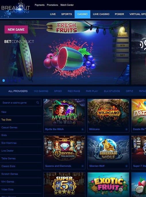 Breakout Gaming Casino Free Bonus