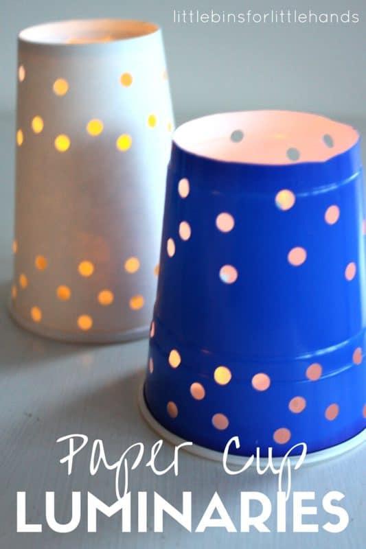 Paper Cup Luminaries