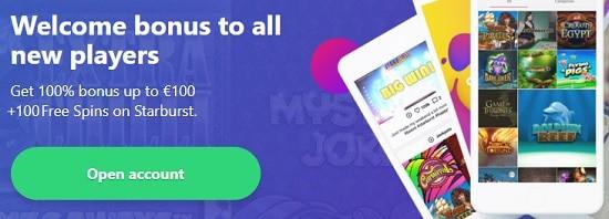 Dreamz Casino welcome bonus - register and login for free