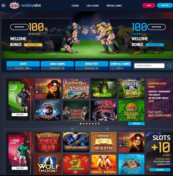 Webby Slot Casino free bonus