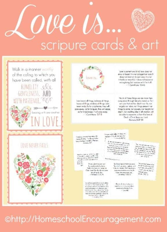 Need to re-focus your thoughts to a biblical perspective of love? Take a look at our FREE scripture cards and poster printables to help moms dwell on God's love for her.