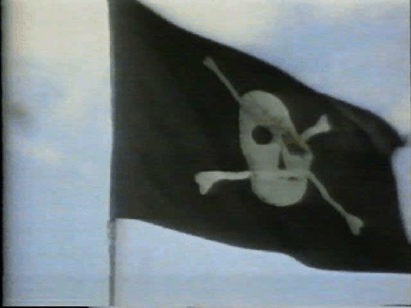 """Pirate flag above the Mac developers' building """"Bandley III"""""""