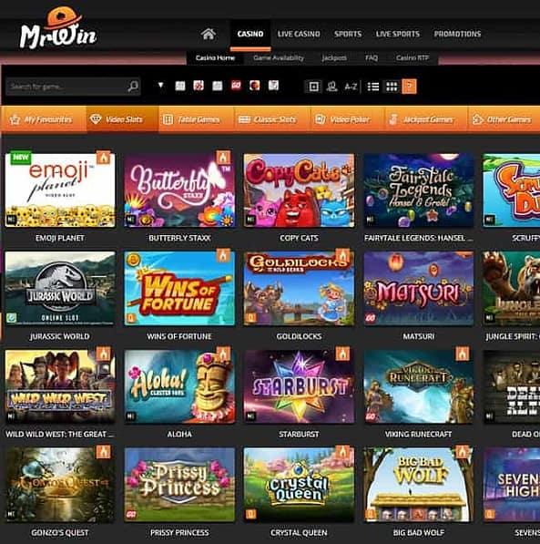 MrWin Casino Review