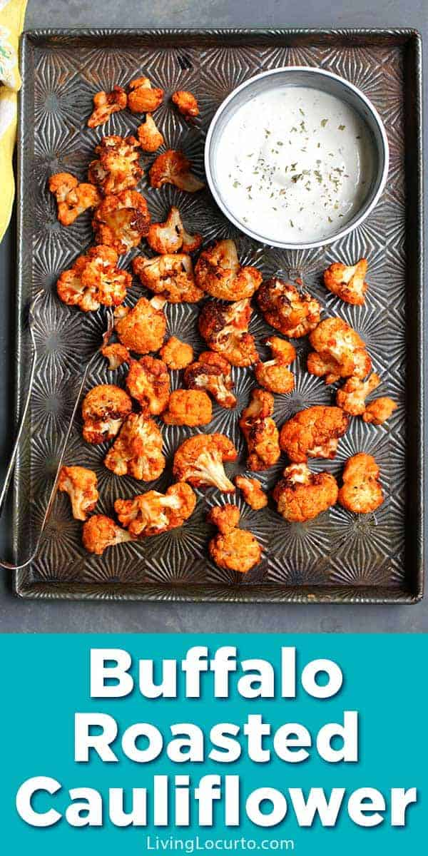 Easy low-carb Buffalo Roasted Cauliflower that turns out perfectly crispy in an air fryer or oven.