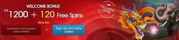 Royal Vegas Casino 120 free spins on Mega Moolah jackpot video slot