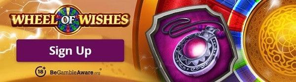 100 free spins on Progressive Jackpot (WheelofWishes)