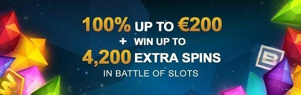 Video Slots 100% bonus + 10 Free Spins + 10 EUR gratis