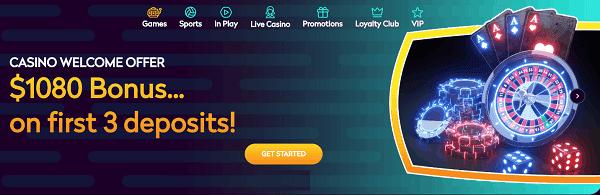 $1080 welcome bonus