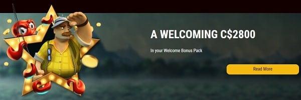 CA$2800 welcome bonus