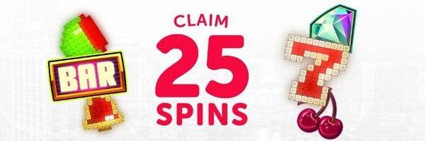 Deluxino Casino 25 free spins bonus - no wagering requirements